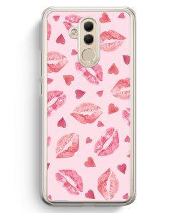 Huawei Mate 20 Lite Hardcase Hülle - Lippen Herzen Muster
