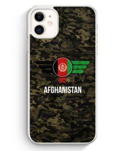 iPhone 11 Hardcase Hülle - Afghanistan Camouflage mit Schriftzug