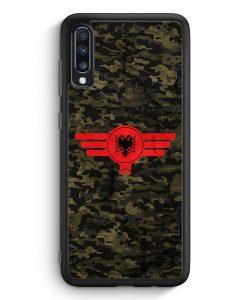 Samsung Galaxy A70 Silikon Hülle - Albanien Albania Camouflage