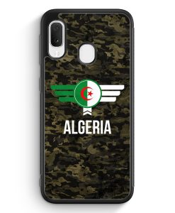 Samsung Galaxy A20e Silikon Hülle - Algerien Algeria Camouflage mit Schriftzug