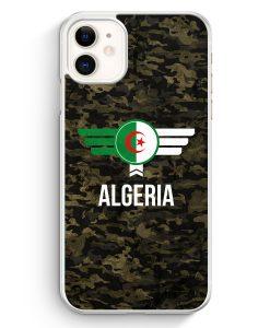 iPhone 11 Hardcase Hülle - Algerien Algeria Camouflage mit Schriftzug