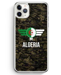 iPhone 11 Pro Max Hardcase Hülle - Algerien Algeria Camouflage mit Schriftzug
