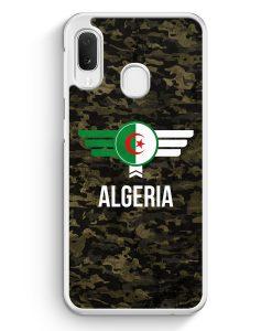 Samsung Galaxy A20e Hardcase Hülle - Algerien Algeria Camouflage mit Schriftzug
