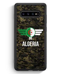 Samsung Galaxy S10e Silikon Hülle - Algerien Algeria Camouflage mit Schriftzug
