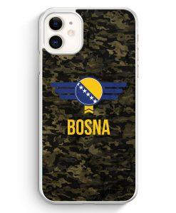 iPhone 11 Hardcase Hülle - Bosna Bosnien Camouflage mit Schriftzug