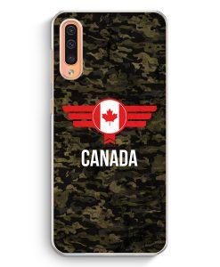 Samsung Galaxy A50 Hardcase Hülle - Canada Kanada Camouflage mit Schriftzug