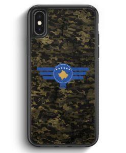 iPhone X & iPhone XS Silikon Hülle - Kosova Kosovo Camouflage