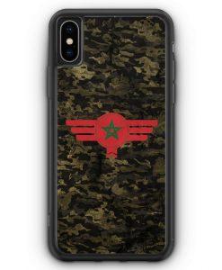iPhone XS Max Silikon Hülle - Marokko Morocco Camouflage
