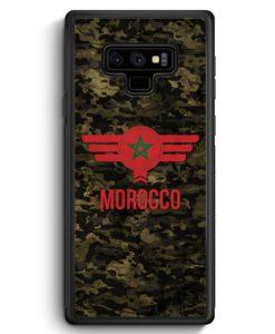 Samsung Galaxy Note 9 Hülle Silikon - Marokko Morocco Camouflage mit Schriftzug