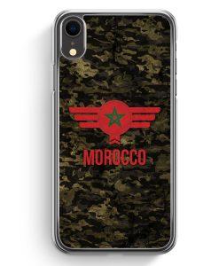 iPhone XR Hardcase Hülle - Marokko Morocco Camouflage mit Schriftzug
