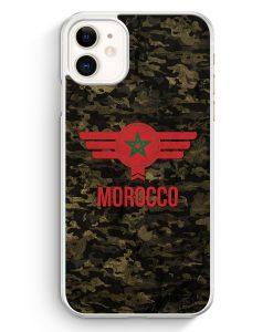 iPhone 11 Hardcase Hülle - Marokko Morocco Camouflage mit Schriftzug