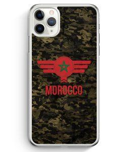 iPhone 11 Pro Max Hardcase Hülle - Marokko Morocco Camouflage mit Schriftzug