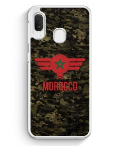 Samsung Galaxy A20e Hardcase Hülle - Marokko Morocco Camouflage mit Schriftzug