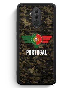 Huawei Mate 20 Lite Silikon Hülle - Portugal Camouflage mit Schriftzug
