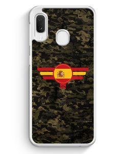 Samsung Galaxy A20e Hardcase Hülle - Espana Spanien Camouflage