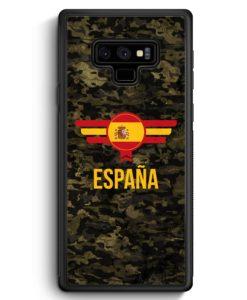 Samsung Galaxy Note 9 Hülle Silikon - Espana Spanien Camouflage mit Schriftzug