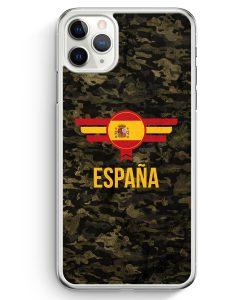 iPhone 11 Pro Max Hardcase Hülle - Espana Spanien Camouflage mit Schriftzug