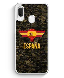 Samsung Galaxy A20e Hardcase Hülle - Espana Spanien Camouflage mit Schriftzug