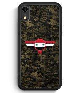 iPhone XR Silikon Hülle - Syrien Syria Camouflage