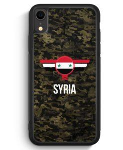 iPhone XR Silikon Hülle - Syrien Syria Camouflage mit Schriftzug