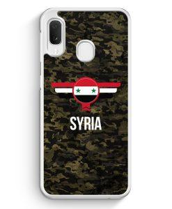 Samsung Galaxy A20e Hardcase Hülle - Syrien Syria Camouflage mit Schriftzug