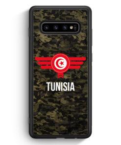 Samsung Galaxy S10 Silikon Hülle - Tunisia Tunesien Camouflage mit Schriftzug
