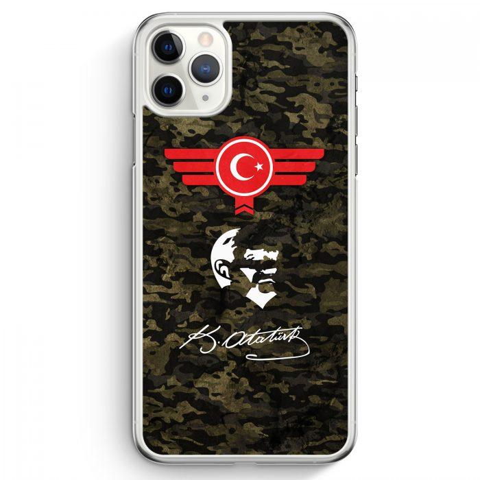 iPhone 11 Pro Max Hardcase Hülle - Atatürk Türkiye Türkei Camouflage
