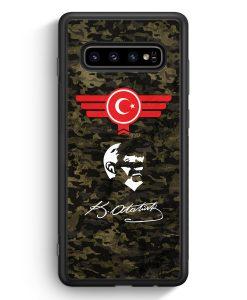 Samsung Galaxy S10e Silikon Hülle - Atatürk Türkiye Türkei Camouflage