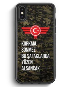 iPhone X & iPhone XS Silikon Hülle - Korkma Sönmez Türkiye Türkei Camouflage