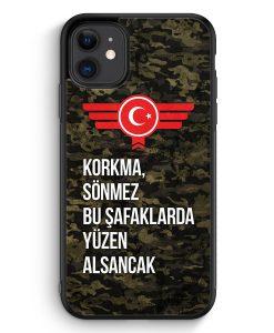 iPhone 11 Silikon Hülle - Korkma Sönmez Türkiye Türkei Camouflage