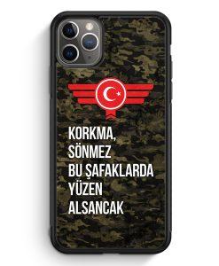 iPhone 11 Pro Max Silikon Hülle - Korkma Sönmez Türkiye Türkei Camouflage