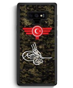 Samsung Galaxy Note 9 Hülle Silikon - Osmanli Tugrasi Türkiye Türkei Camouflage