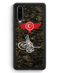 Huawei P30 Silikon Hülle - Osmanli Tugrasi Türkiye Türkei Camouflage