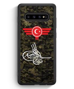 Samsung Galaxy S10 Silikon Hülle - Osmanli Tugrasi Türkiye Türkei Camouflage