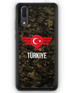 Huawei P20 Hülle Silikon - Türkiye Türkei Camouflage mit Schriftzug