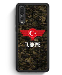 Huawei P20 Pro Hülle Silikon - Türkiye Türkei Camouflage mit Schriftzug