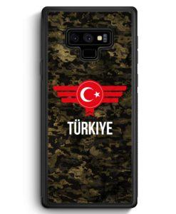 Samsung Galaxy Note 9 Hülle Silikon - Türkiye Türkei Camouflage mit Schriftzug