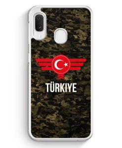 Samsung Galaxy A20e Hardcase Hülle - Türkiye Türkei Camouflage mit Schriftzug