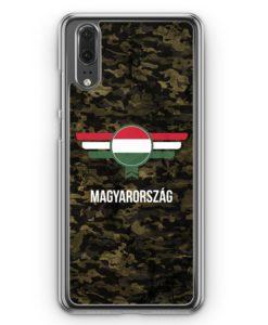 Huawei P20 Hülle Hardcase - Ungarn Magyarország Camouflage mit Schriftzug