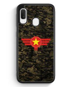 Samsung Galaxy A20e Silikon Hülle - Vietnam Camouflage