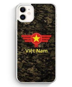 iPhone 11 Hardcase Hülle - Vietnam Camouflage mit Schriftzug