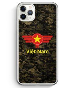 iPhone 11 Pro Max Hardcase Hülle - Vietnam Camouflage mit Schriftzug
