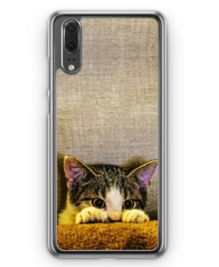 Huawei P20 Hülle Hardcase - Ängstliches Kätzchen