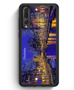 Huawei P20 Pro Hülle Silikon - Panorama Amsterdam