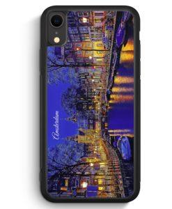 iPhone XR Silikon Hülle - Panorama Amsterdam