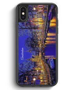 iPhone X & iPhone XS Silikon Hülle - Panorama Amsterdam