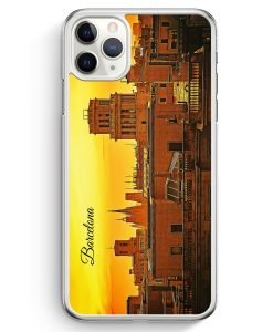 iPhone 11 Pro Max Hardcase Hülle - Panorama Barcelona