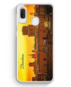 Samsung Galaxy A20e Hardcase Hülle - Panorama Barcelona