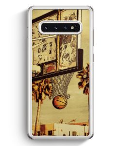 Samsung Galaxy S10+ Plus Hardcase Hülle - Basketball Cartoon