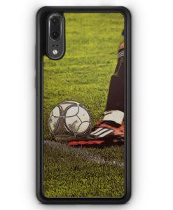 Huawei P20 Hülle Silikon - Fußball Schuss